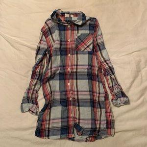 Gap Plaid Shirt Dress